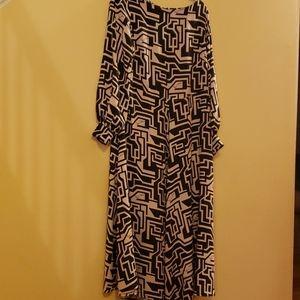 H&M Richard Allen Flowy Maxi Dress